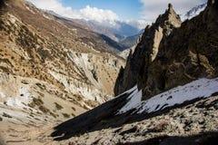 Montagnes, Népal Photos stock