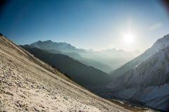 Montagnes, Népal Image stock