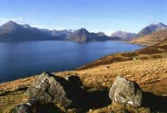 Montagnes noires de Cuillin, Skye Image stock