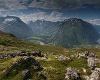 Montagnes norvégiennes image stock