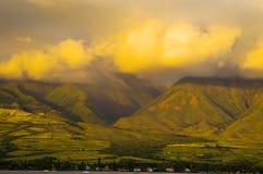 Montagnes occidentales de Maui Photographie stock