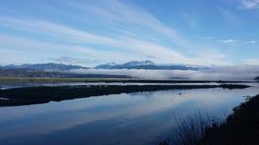 Montagnes olympiques de baie d'Annas Photographie stock libre de droits