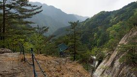 Montagnes panorama, DPRK (Corée du Nord) de Myohyang Photos libres de droits