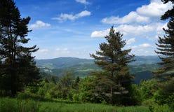 Montagnes Pieniny en Slovaquie et en Pologne Photographie stock