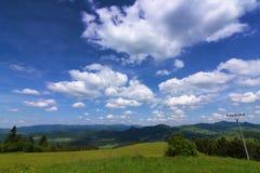 Montagnes Pieniny en Slovaquie et en Pologne Photo stock