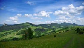 Montagnes Pieniny en Slovaquie et en Pologne Images stock