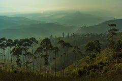Montagnes posées Photos libres de droits