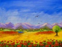 Montagnes pourprées illustration de vecteur