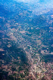 Montagnes près de panorama de paysage urbain de vue aérienne de Mexico Images stock