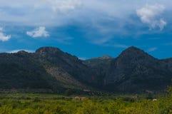 Montagnes près de Soller, Majorque, Espagne Photographie stock libre de droits