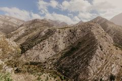 Montagnes près de vieille barre, Monténégro photo libre de droits