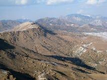 Montagnes raboteuses de l'Afghanistan oriental Photos stock