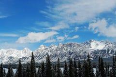 Montagnes rocheuses de l'hiver Photos libres de droits