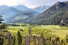 Montagnes rocheuses du Colorado images stock