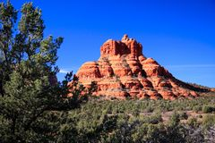 Montagnes rouges de roche de Sedona Arizona Photos libres de droits