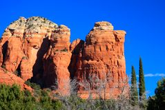 Montagnes rouges de roche de Sedona Arizona Photographie stock
