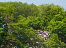 Montagnes russes au parc Erie, Pennsylvanie de Waldameer images stock