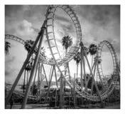 Montagnes russes de boomerang au ` de Knott s Berry Farm en Californie Photographie stock