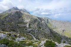 Montagnes Serra de Tramuntana de Tramuntana dans l'ouest de Majorque, Îles Baléares, Espagne photo stock