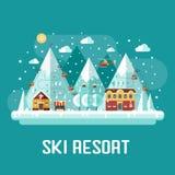 Montagnes Ski Resort Landscape Image libre de droits