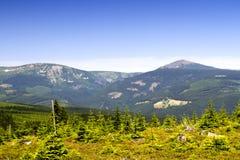 Montagnes - Snezka Photos libres de droits