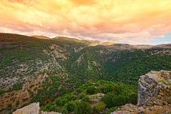 Montagnes supérieures de la Galilée en Israël Photo stock