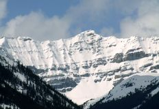Montagnes sur la haute Photographie stock