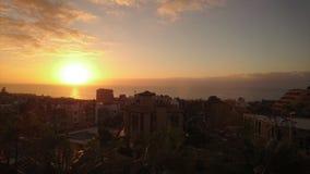 Montagnes Ténérife de coucher du soleil Photos libres de droits