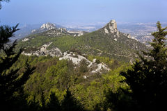 Montagnes turques de la Chypre - du Karpathia Images stock