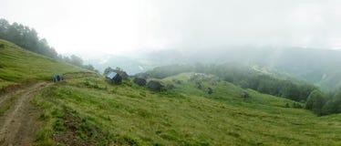 Montagnes ukrainiennes Photo stock