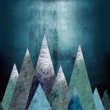 Montagnes - un endroit d'aventure seamless Photographie stock