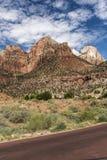 Montagnes, usines et roches Zion National Park photo stock