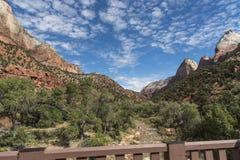 Montagnes, usines et roches Zion National Park image stock