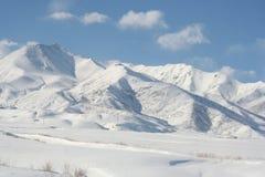 Montagnes v4 de neige Photos libres de droits