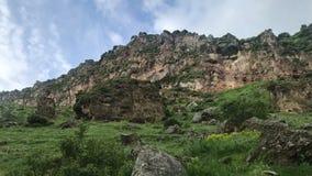 Montagnes vertes de tir de Caucase au téléphone portable, concept de voyage clips vidéos