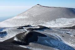 Montagnola χειμερινό Etna στο πάρκο, Σικελία στοκ εικόνα