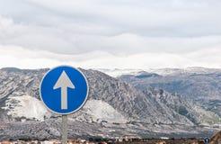 Montain高速公路 免版税图库摄影