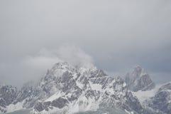 雪montain 库存图片