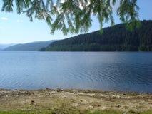 湖montain 免版税库存图片