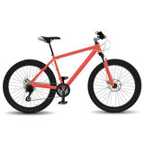 Mountain bike. Red montain bike vector illustration Royalty Free Stock Image