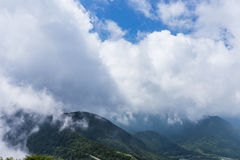 Montain and cloud view from Unzen ropeway in Kumamoto, Kyushu. Royalty Free Stock Image