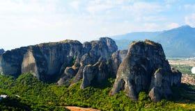 Montain de Meteora imagens de stock royalty free