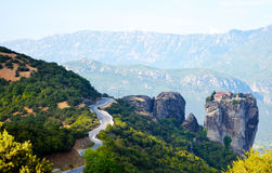 Montain de Meteora fotos de stock royalty free
