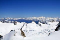 Montain in Francia Aiguille du Midi Immagini Stock