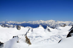 Montain in Frankrijk Aiguille du Midi Stock Afbeeldingen
