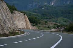 Montain hightway. Scenic view of mountain road,nature background. D Royalty Free Stock Photo
