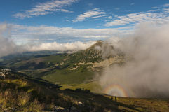 Montain landscape with Brocken spectre. Tatry.  stock photos