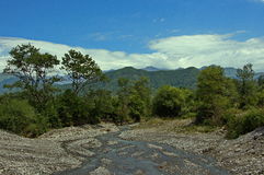 Montain landscape in Oguz region of Azerbaijan. Royalty Free Stock Photography