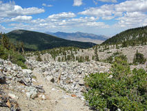 Montain Range in the Great Basin National Park, Nevada Stock Photography