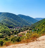 Mountain township Royalty Free Stock Image